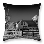 House And Cottonwoods Throw Pillow
