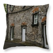 House And Street In Kilkenny Throw Pillow