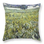 House At Auvers Throw Pillow