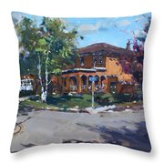 House At Goldmar Dr Mississauga On Throw Pillow