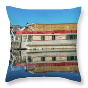 House Boats  Throw Pillow
