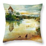 House By A Pond Throw Pillow