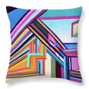 House By The Bay Throw Pillow