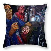 House By The Cemetery Throw Pillow