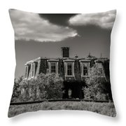 House By The Railway Tracks Throw Pillow