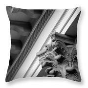 House Column Black And White Throw Pillow