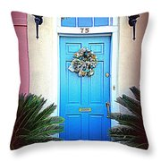House Door 6 In Charleston Sc  Throw Pillow