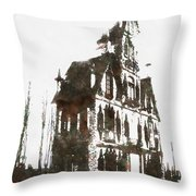 House Dracula Throw Pillow