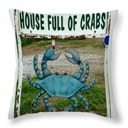 House  Full Of Crabs Throw Pillow