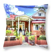 House In Curepe Throw Pillow