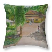House In Goa Throw Pillow