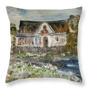 House In Mendocino Throw Pillow