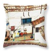 House In Santiago De La Ribera Throw Pillow