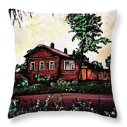 House In Sergiyev Posad   Throw Pillow