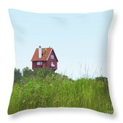 House In The Clouds Throw Pillow