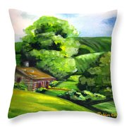 House In The Country Throw Pillow