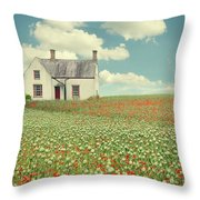 House In The Countryside Throw Pillow