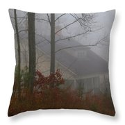 House In The Fog Throw Pillow