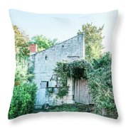 House In The Forest Throw Pillow