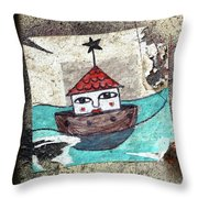 House In The Sea Throw Pillow