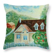 House In The Village Throw Pillow
