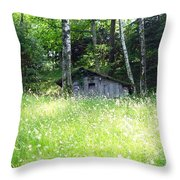 House In The Wood Throw Pillow