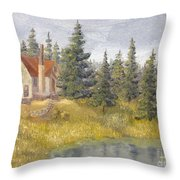 House In The Woods 2  Throw Pillow