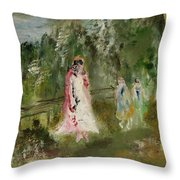 House Near The Forest Throw Pillow