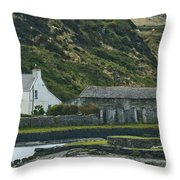 House Near Valencia Island Ireland Throw Pillow