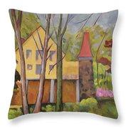 House Of Clara Barton Throw Pillow