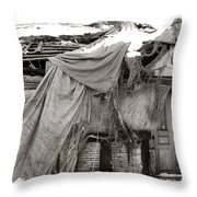House Of Ghosts Throw Pillow