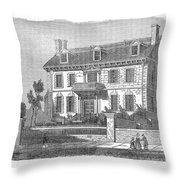 House Of John Hancock Throw Pillow