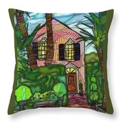 House Of Pink Throw Pillow