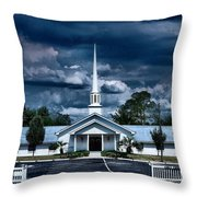 House Of Prayer Throw Pillow