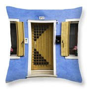 House Of Venice - Blue Throw Pillow