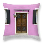 House Of Venice - Pink Throw Pillow