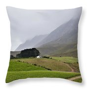 House On A Hill In The Mist Throw Pillow