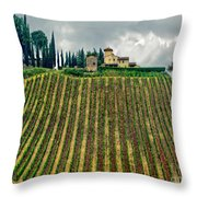 House On A Hill-tuscany Throw Pillow