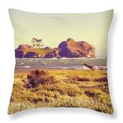 House On An Island Throw Pillow
