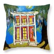 House On Esplanade  Throw Pillow