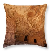 House On Fire-indian Ruin Throw Pillow