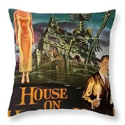 House On Haunted Hill 1958 Throw Pillow