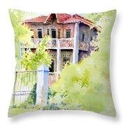 House On Jones Street Throw Pillow