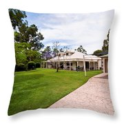 House On Land Throw Pillow