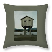 House On Stilts, Coal Harbour Vancouver Throw Pillow