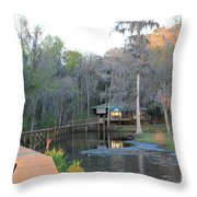 House On The Inlet Throw Pillow