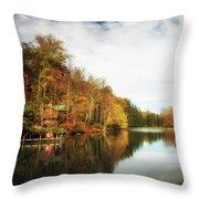 House On The Lake II Throw Pillow