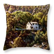 House On The Side Of The Mountain Throw Pillow