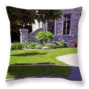 House On Wisconsin Avenue Throw Pillow