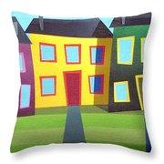 House Party 16 Throw Pillow